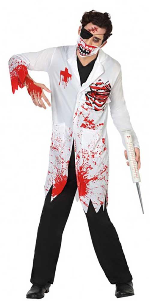 Zombie Costume Dottore medico Zombie Costume Costume Medico Halloween Bianco Verde M 48//50