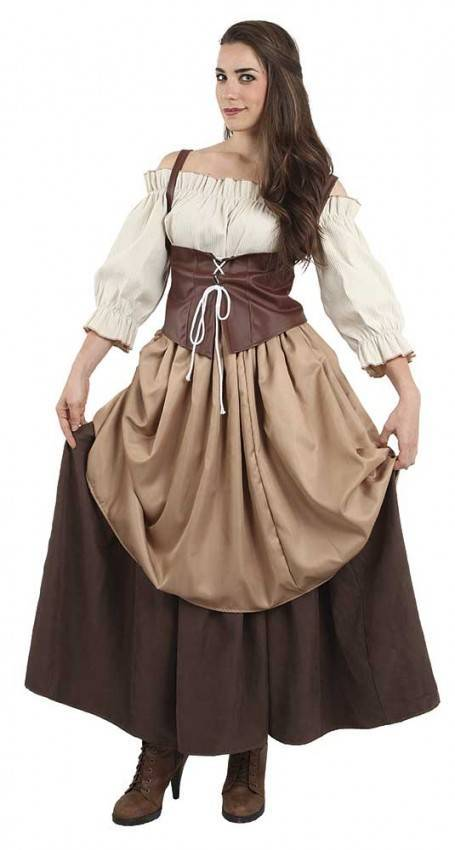 vasta gamma nuovo autentico grande qualità Costume da Campagnola Medievale Adulto 6846 | La Casa di Carnevale