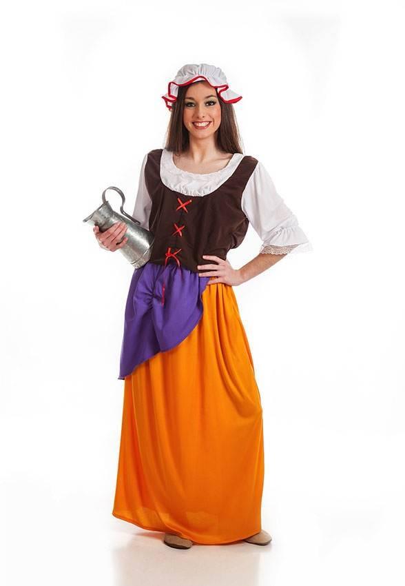 Costume Contadina Medievale Donna Ml 920120 La Casa Di Carnevale
