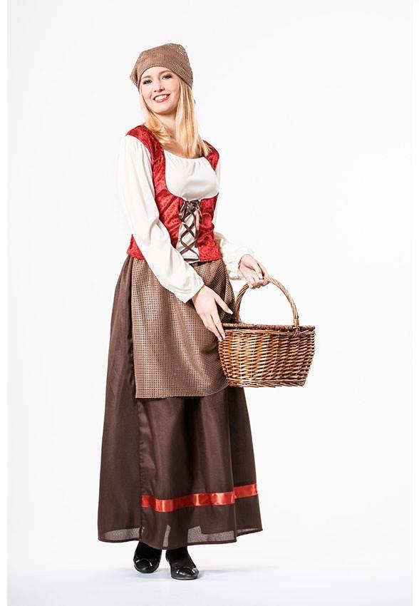 Costume Contadina Medievale Donna Carnevale 970 La Casa Di Carnevale