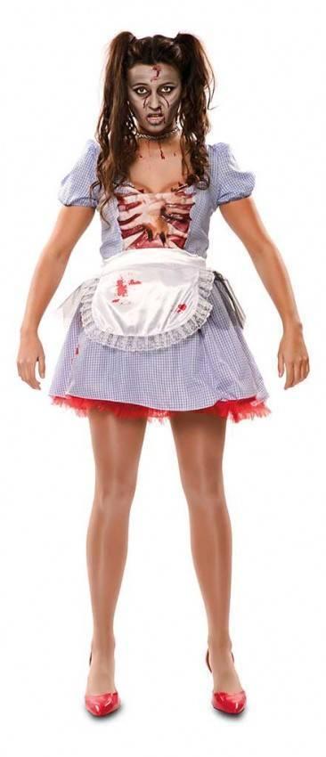 Costume Da Contadina Zombie Donna Ref 706640 La Casa Di Carnevale