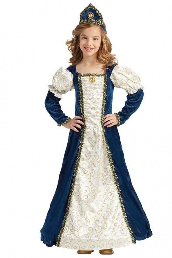 Vestito Bambina Bambina Vestito Principessa Blu Blu Vestito Principessa PZuikX
