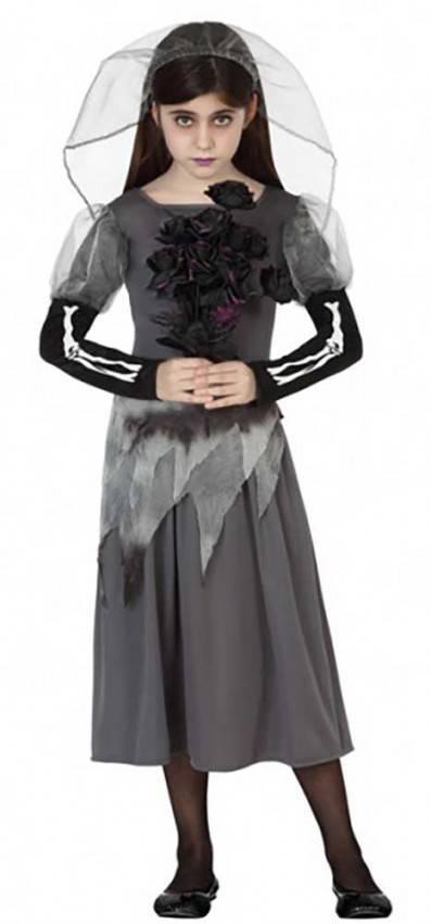Vestiti Da Sposa Halloween.Costume Da Sposa Cadavere Bambine Ref 6420 La Casa Di Carnevale