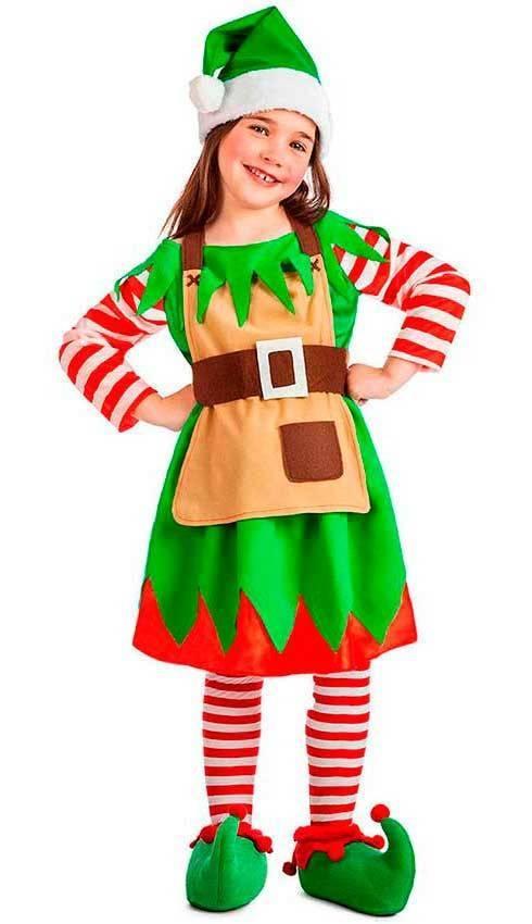 Costumi Elfo Bambina   Costume Da Elfo Divertente Per Bambina ... 6ecb5a51c849