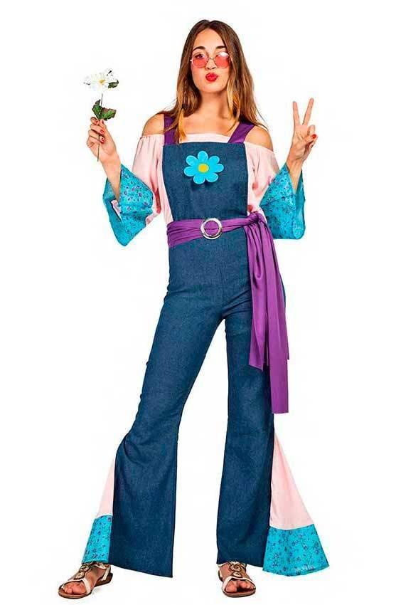 9e2bde7cd1fdd Altre viste. Costume Hippie Fiore Donna Tg. M L