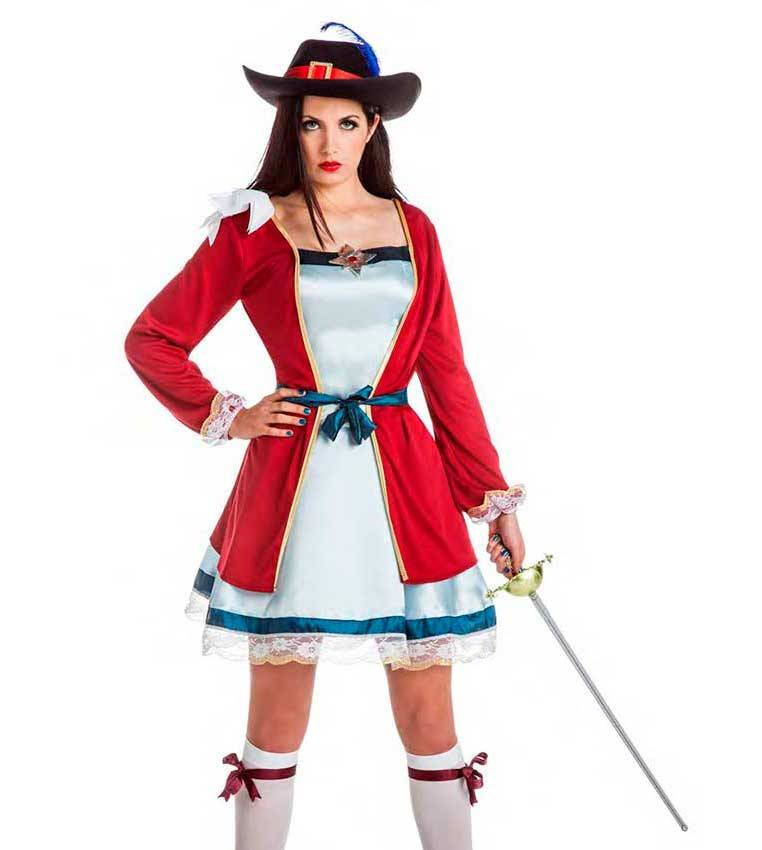 884803435b3d Altre viste. Costume Lady Moschettiere Taglia M-L per Carnevale