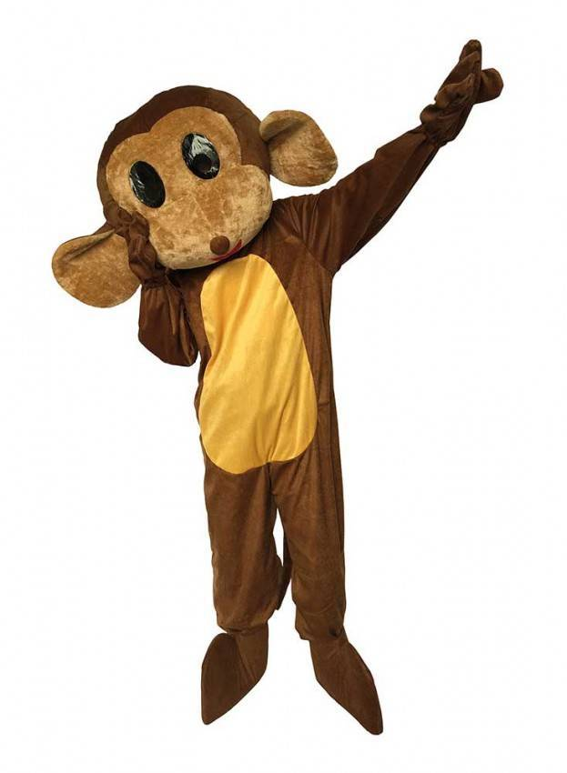 Altre viste. Costume da Mascotte Scimmia Adulto ... f3d134a3764