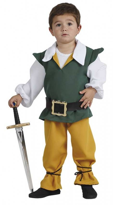 super economico rispetto a completo nelle specifiche stile unico Costume da Piccolo Medievale Bambino
