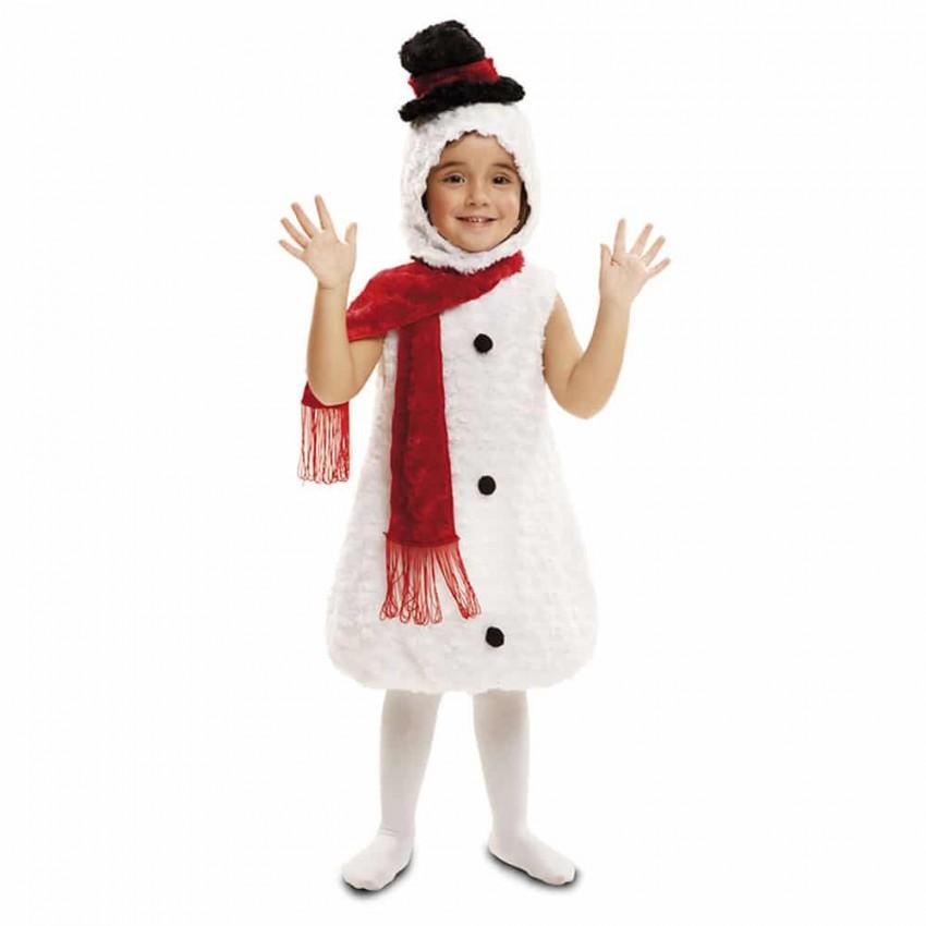 Costume da Pupazzo di Neve Dolci Natale Adulti Donna Costume Vestito Taglia Unica