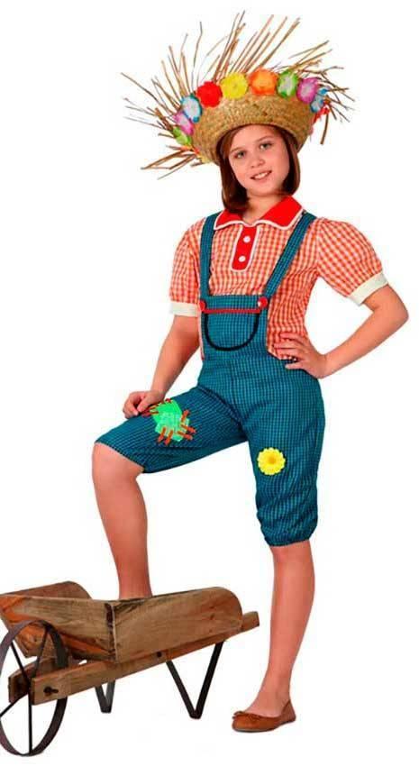 Costumi Contadina Bambina Per Carnevale 16020 La Casa Di Carnevale