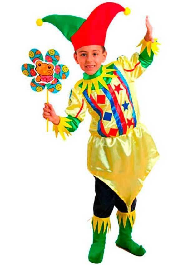 Costumi Giullare Bambino per Carnevale 70597  b8ffd67f677d