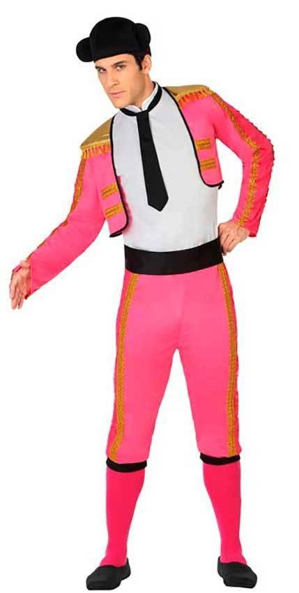 Costumi Torero Rosa Adulto per Carnevale 26803  174321f12285