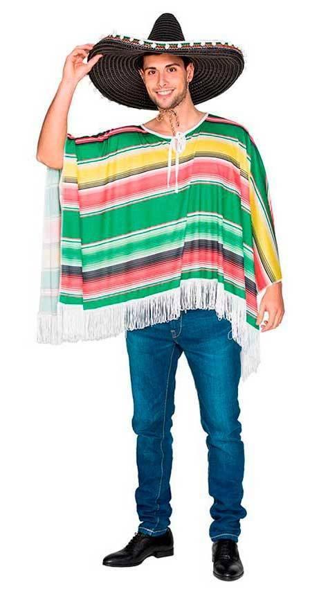 Poncho Messicano Adulto M L per Carnevale 70647  54119da10592