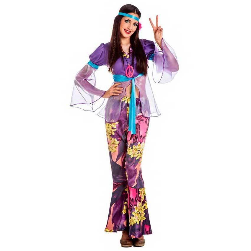 Costume Hippie Donna Viola per Carnevale 0089 | La Casa di Carnevale