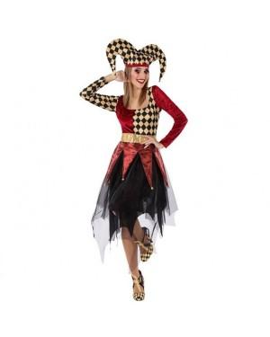 Costume Arlequin Rosso Donna per Carnevale | La Casa di Carnevale