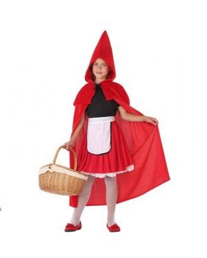 Costume da Cappuccetto Rosso Bambina per Carnevale | La Casa di Carnevale