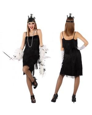 Costume da Charleston Nero Donna per Carnevale | La Casa di Carnevale