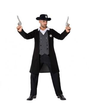 Costume da Cowboy-Sheriff Nero Adult per Carnevale | La Casa di Carnevale