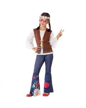 Costume da Hippie Bambina per Carnevale | La Casa di Carnevale