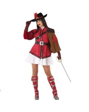 Costume da Moschettiera Rossa Donna per Carnevale | La Casa di Carnevale