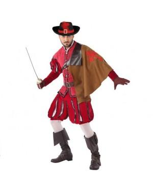 Costume da Moschettiero Rosso Adult per Carnevale | La Casa di Carnevale