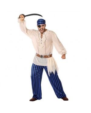 Costume da Pirata Blu Adult per Carnevale | La Casa di Carnevale