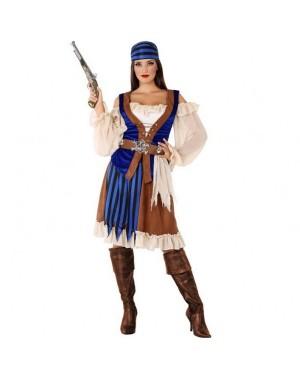 Costume da Pirata Blu Donna per Carnevale | La Casa di Carnevale