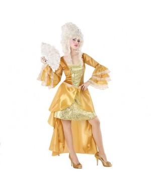 Costume Donna Cortigiana Dorato per Carnevale | La Casa di Carnevale