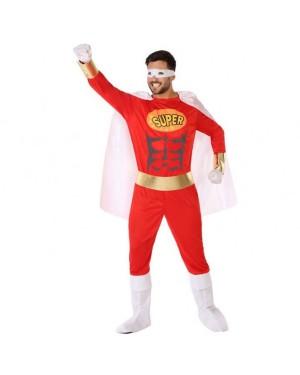 Costume Eroe Comics Rosso Adult per Carnevale | La Casa di Carnevale