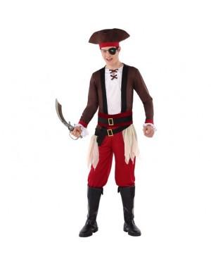 Costume Pirata Rosso Giovanile per Carnevale | La Casa di Carnevale