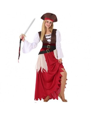 Costume Pirata Rosso Ragazza per Carnevale | La Casa di Carnevale