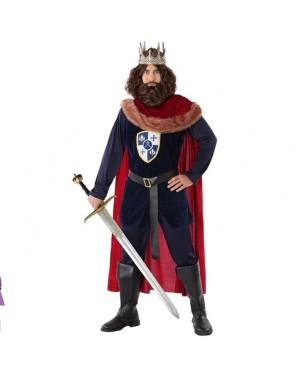 Costume Re Medievale Azzurro Adult per Carnevale | La Casa di Carnevale