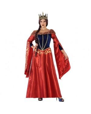 Costume Regina Medievale Rosso Donna per Carnevale | La Casa di Carnevale