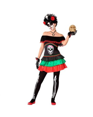 Costume Scheletro Ragazza Giovanile per Carnevale | La Casa di Carnevale