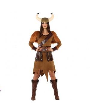 Costume Viking Marrone Donna per Carnevale | La Casa di Carnevale