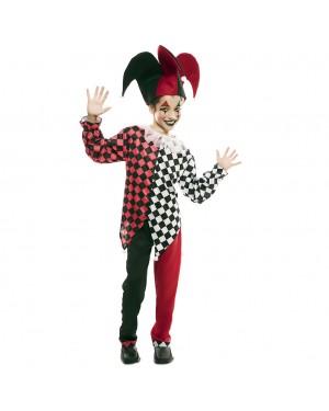 Costume Arlecchino Rosso Bambino per Carnevale | La Casa di Carnevale