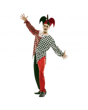 Costume Arlecchino Rosso Uomo per Carnevale | La Casa di Carnevale