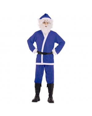 Costume Babbo Natale Azzurro per Carnevale | La Casa di Carnevale