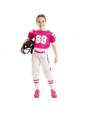 Costume Giocatore de Rugby Bambina per Carnevale | La Casa di Carnevale