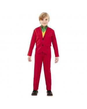 Costume Joker Rosso Bambino per Carnevale | La Casa di Carnevale