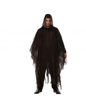 Costume Poncho sinistro Nero 170 cm per Carnevale | La Casa di Carnevale