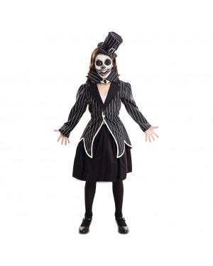 Costume Scheletro elegante Bambina per Carnevale | La Casa di Carnevale