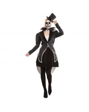 Costume Scheletro Elegante Donna per Carnevale | La Casa di Carnevale