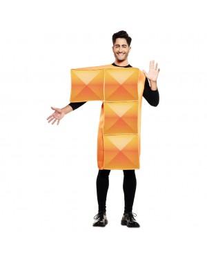 Costume Tetris Adulto Arancia per Carnevale | La Casa di Carnevale