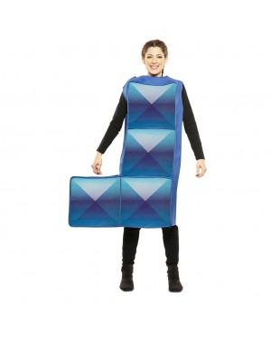 Costume Tetris Adulto Azzurro per Carnevale | La Casa di Carnevale