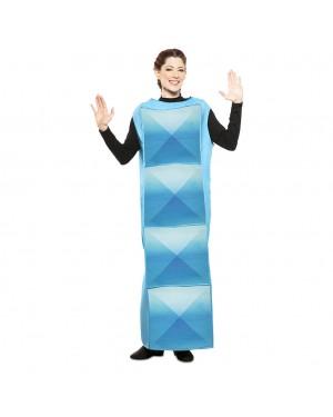 Costume Tetris Adulto Cyan per Carnevale | La Casa di Carnevale