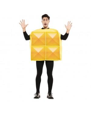 Costume Tetris Adulto Giallo per Carnevale | La Casa di Carnevale