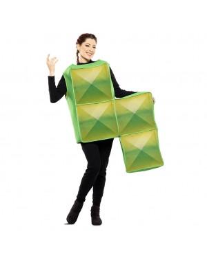 Costume Tetris Adulto Verde per Carnevale | La Casa di Carnevale