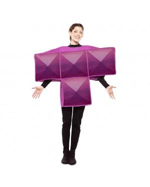 Costume Tetris Adulto Viola per Carnevale | La Casa di Carnevale