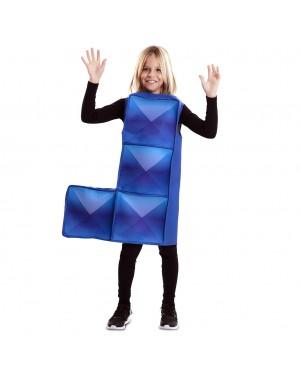 Costume Tetris Bambino Azzurro per Carnevale | La Casa di Carnevale